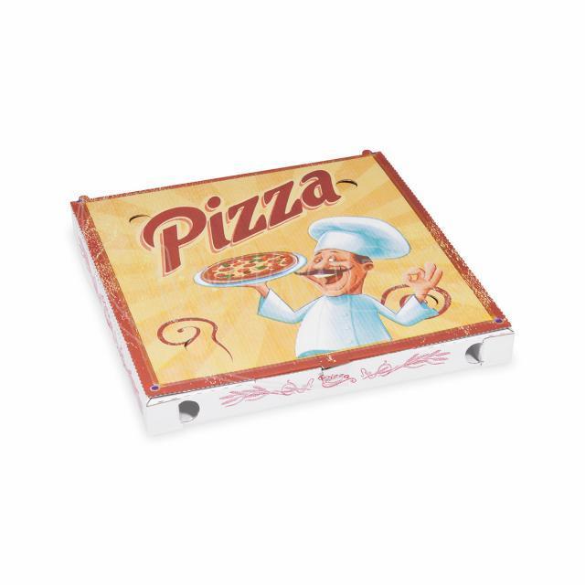 Krabice na pizzu z vlnité lepenky 29,5 x 29,5 x 3 cm [100 ks]