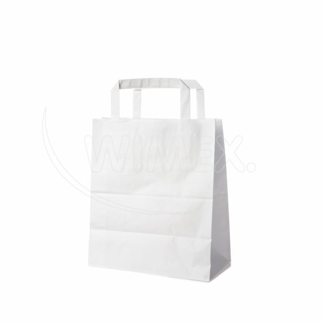 Papírová taška 18+8 x 22 cm bílá [250 ks]
