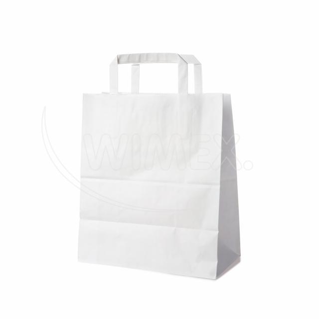 Papírová taška 22+10 x 28 cm bílá [250 ks]