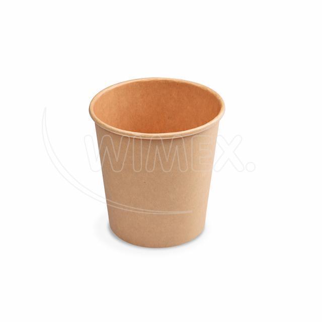Papírový kelímek hnědý 200 ml, S (Ø 73 mm) [50 ks]