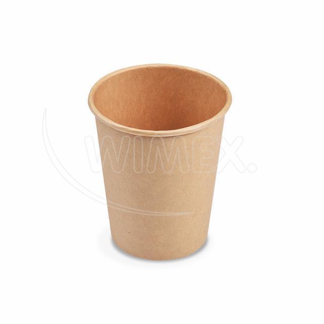 Papírový kelímek hnědý 280 ml, M (Ø 80 mm) [50 ks]
