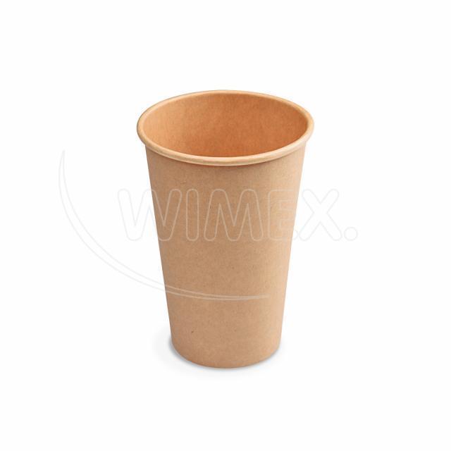 Papírový kelímek hnědý 330 ml, L (Ø 80 mm) [50 ks]