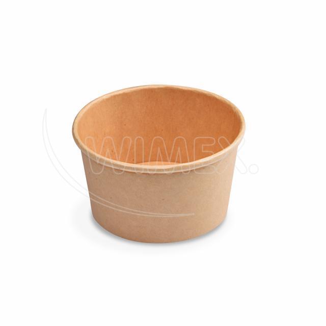 Papírová miska kulatá hnědá 350 ml, S (Ø 115 mm) [50 ks]