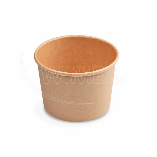 Papírová miska kulatá hnědá 500 ml, M (Ø 115 mm) [50 ks]