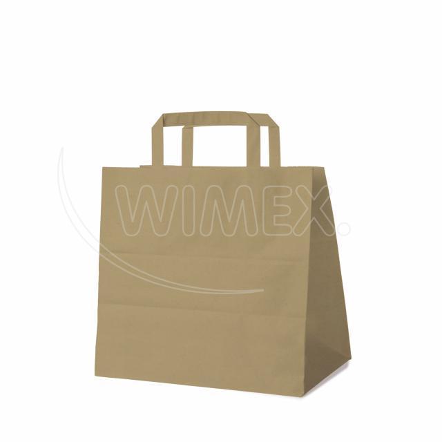 Papírová taška 26+17 x 25 cm hnědá [50 ks]