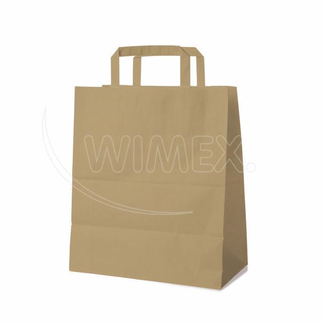 Papírová taška 26+14 x 32 cm hnědá [50 ks]