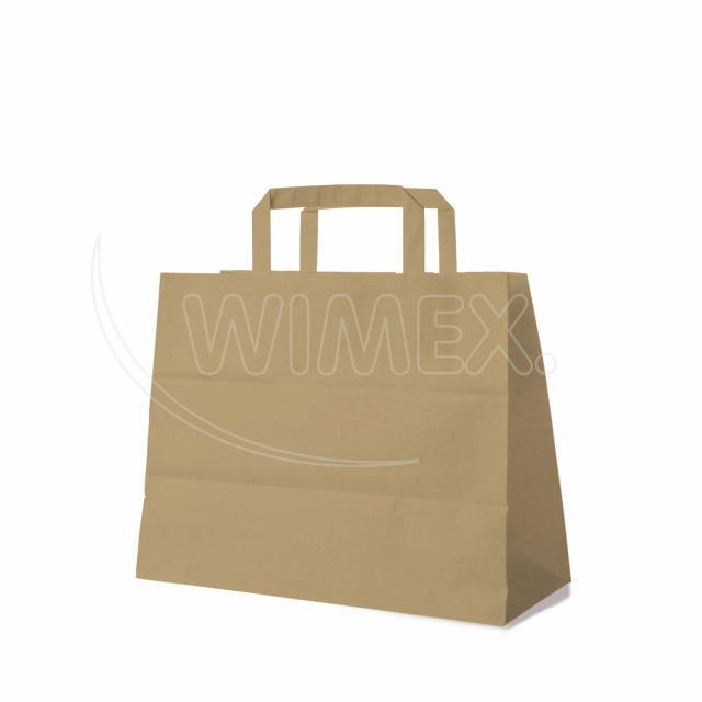 Papírová taška 32+16 x 27 cm hnědá [50 ks]