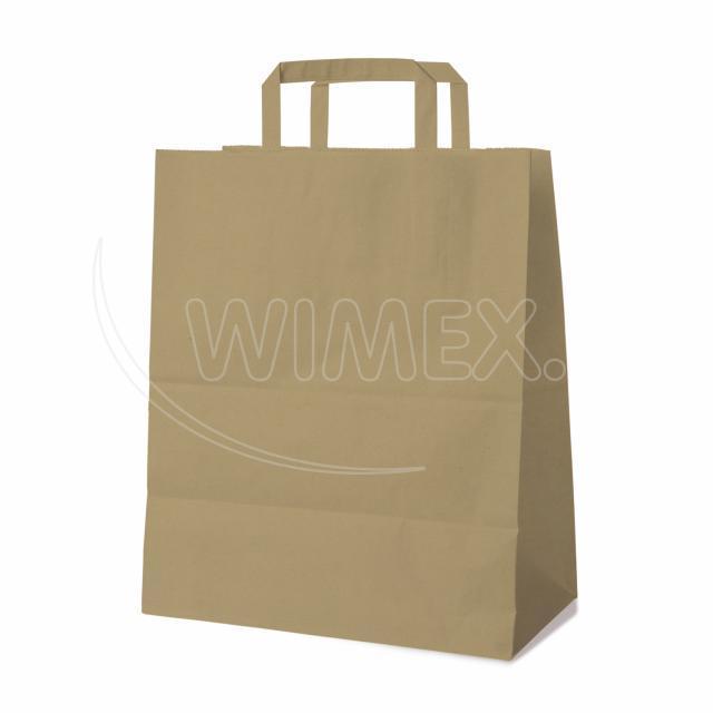 Papírová taška 32+16 x 39 cm hnědá [50 ks]