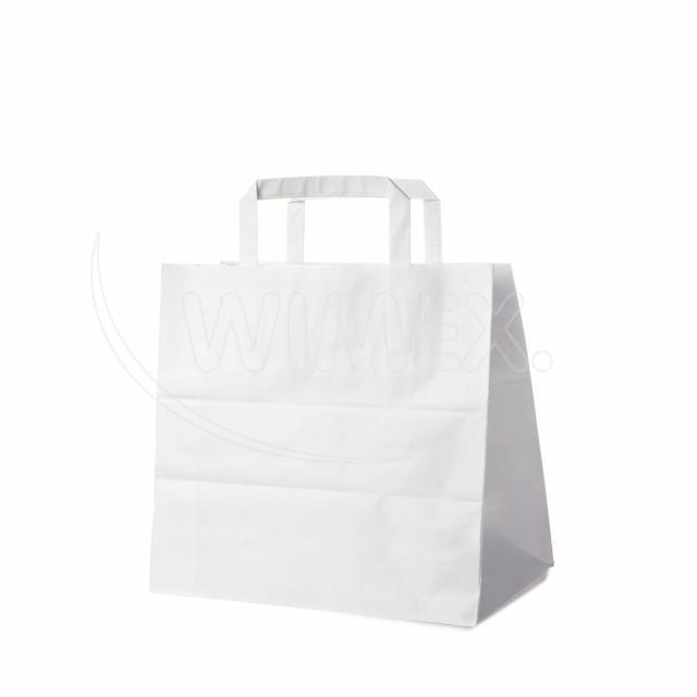 Papírová taška 26+17 x 25 cm bílá [50 ks]