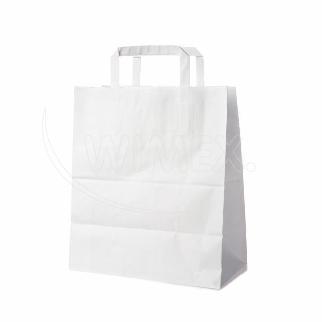 Papírová taška 26+14 x 32 cm bílá [50 ks]