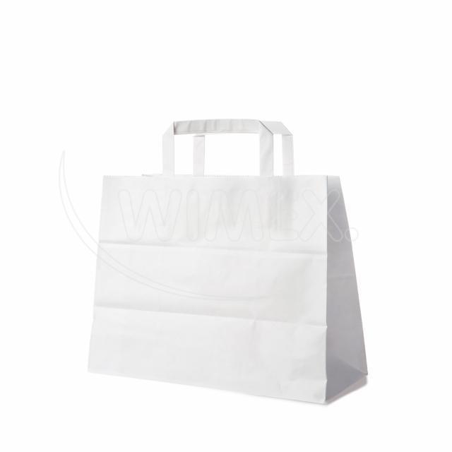 Papírová taška 32+16 x 27 cm bílá [50 ks]