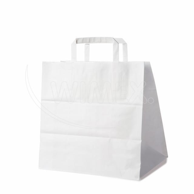 Papírová taška 32+21 x 33 cm bílá [50 ks]