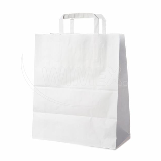 Papírová taška 32+16 x 39 cm bílá [50 ks]