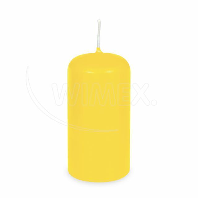 Svíčka válcová Ø 60 x 120 mm žlutá [1 ks]
