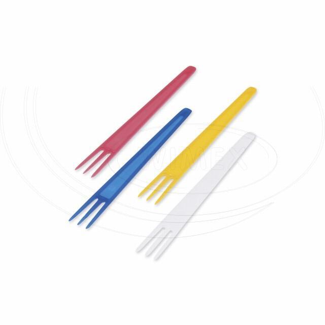 Vidlička na hranolky barevný mix 7,5 cm [2000 ks]