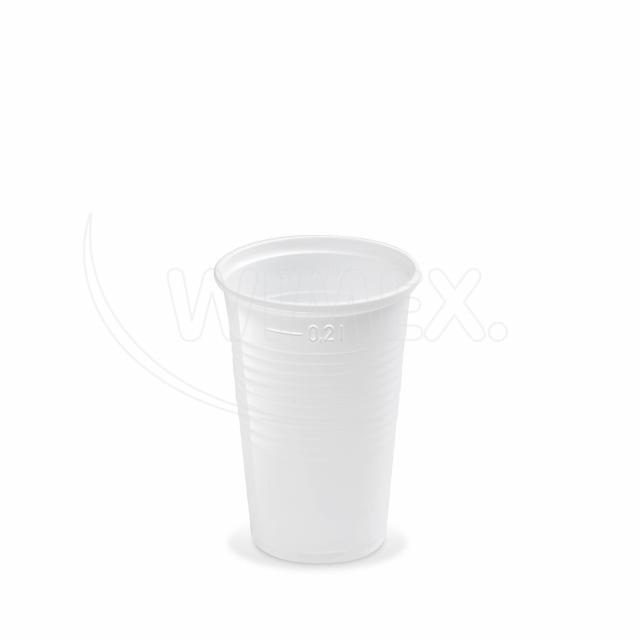 Kelímek bílý 0,2 l -PP- (Ø 70 mm) [100 ks]