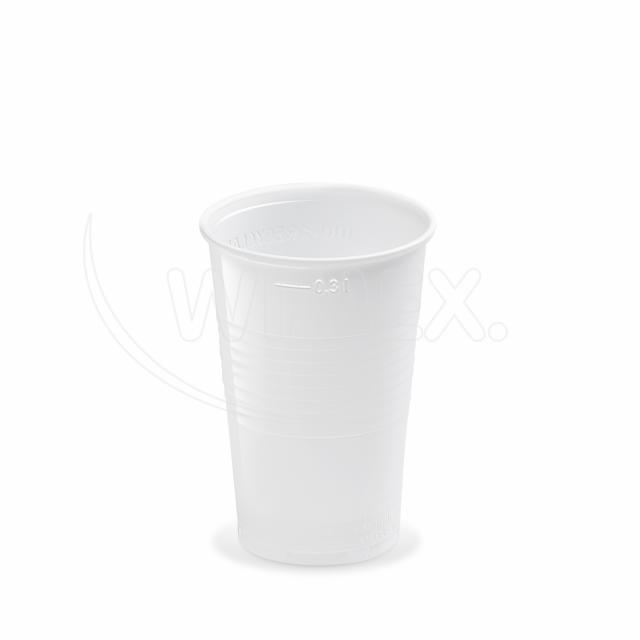 Kelímek bílý 0,3 l -PP- (Ø 78 mm) [100 ks]