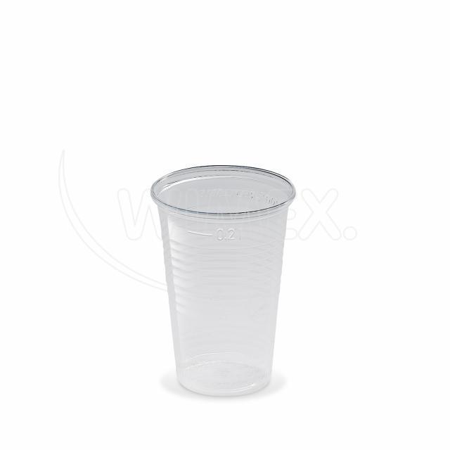 Kelímek průhledný 0,2 l -PP- (Ø 70 mm) [100 ks]