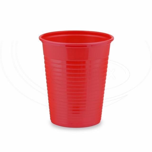 Kelímek červený 0,18 l -PS- (Ø 70 mm) [50 ks]