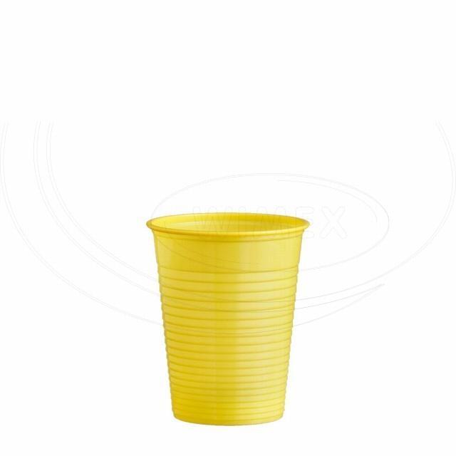 Kelímek žlutý 0,18 l -PS- (Ø 70 mm) [50 ks]