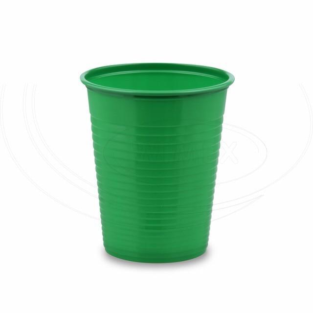 Kelímek zelený 0,18 l -PS- (Ø 70 mm) [50 ks]