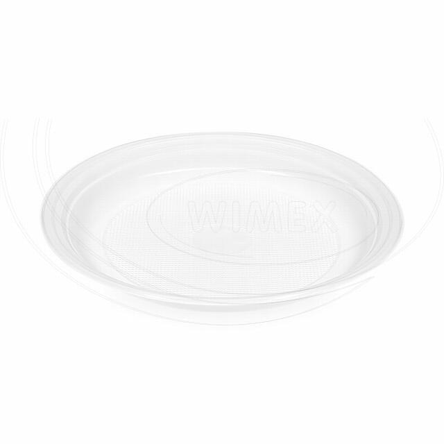 Talíř mělký, bílý (PP) Ø 20,5 cm [100 ks]