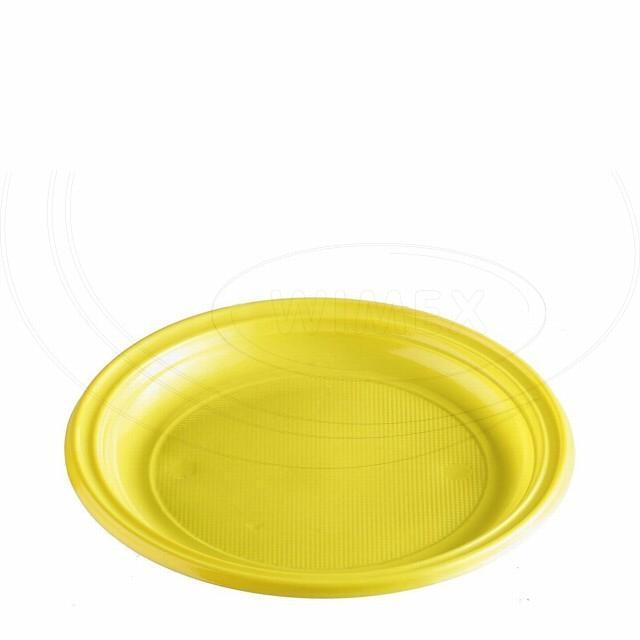 Talíř žlutý (PS) Ø 22 cm [30 ks]
