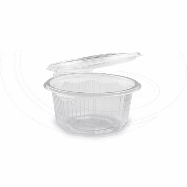 Miska osmiboká průhledná s víčkem 500 ml (PP) [50 ks]