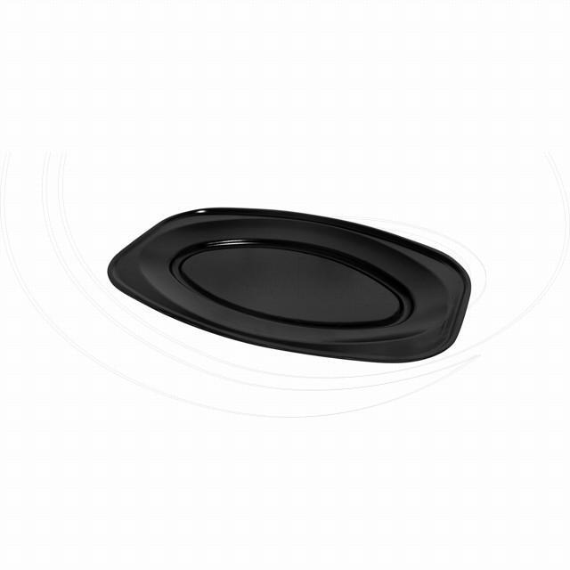Podnos oválný černý 35 x 24,7 cm (EPS) [10 ks]