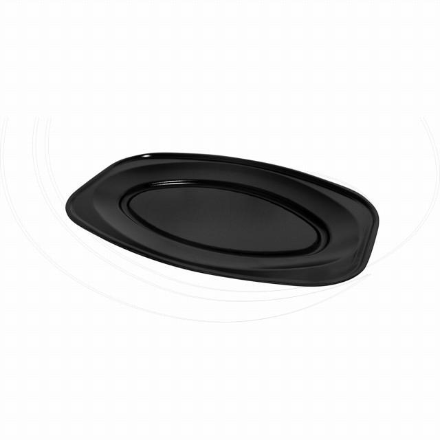 Podnos oválný černý 45 x 30,5 cm (EPS) [10 ks]