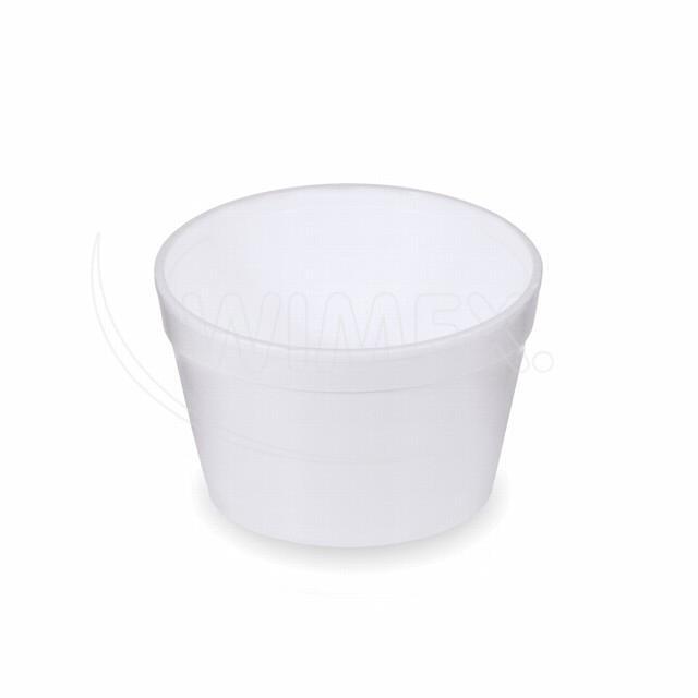 Termo-miska kulatá bílá 460 ml [25 ks]